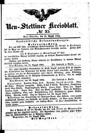 Neustettiner Kreisblatt vom 19.08.1864