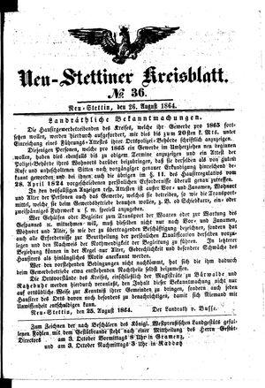 Neustettiner Kreisblatt vom 26.08.1864