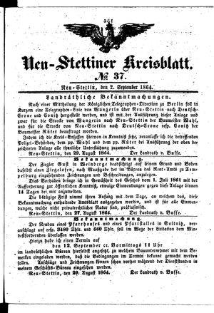 Neustettiner Kreisblatt on Sep 2, 1864