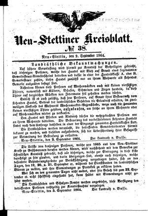 Neustettiner Kreisblatt vom 09.09.1864