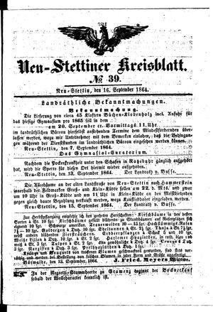 Neustettiner Kreisblatt vom 16.09.1864