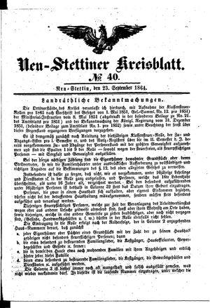 Neustettiner Kreisblatt vom 23.09.1864
