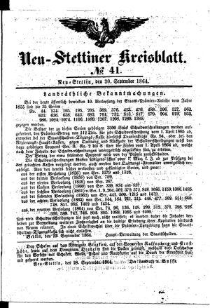 Neustettiner Kreisblatt vom 30.09.1864