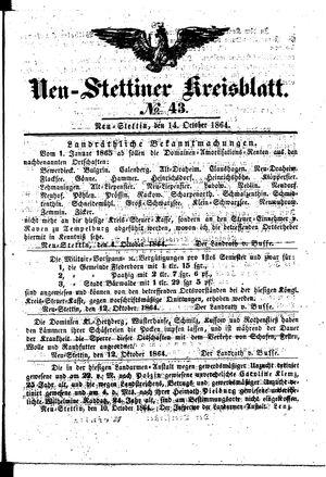 Neustettiner Kreisblatt vom 14.10.1864