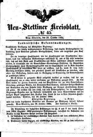 Neustettiner Kreisblatt vom 28.10.1864