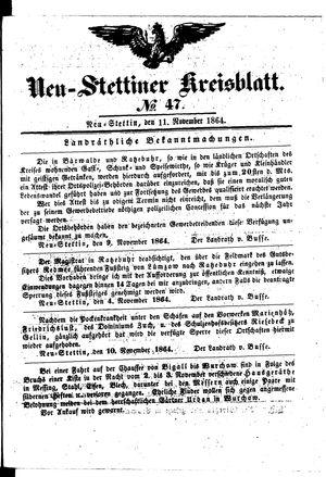 Neustettiner Kreisblatt vom 11.11.1864