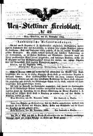 Neustettiner Kreisblatt vom 25.11.1864