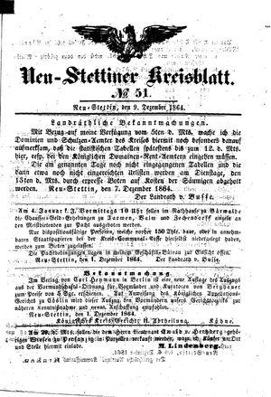 Neustettiner Kreisblatt vom 09.12.1864