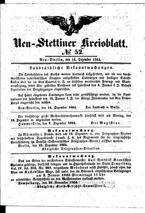Neustettiner Kreisblatt vom 16.12.1864
