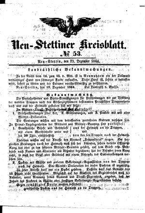 Neustettiner Kreisblatt vom 23.12.1864