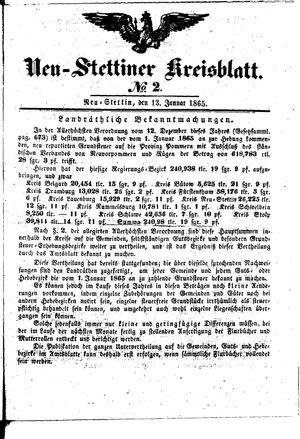 Neustettiner Kreisblatt vom 13.01.1865
