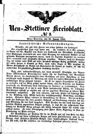 Neustettiner Kreisblatt on Jan 20, 1865