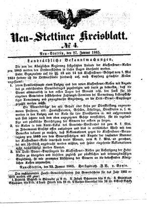 Neustettiner Kreisblatt on Jan 27, 1865