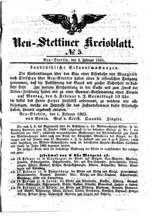 Neustettiner Kreisblatt vom 03.02.1865