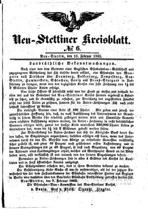 Neustettiner Kreisblatt vom 10.02.1865