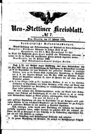 Neustettiner Kreisblatt vom 17.02.1865