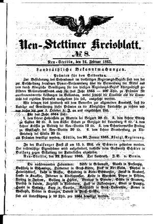 Neustettiner Kreisblatt vom 24.02.1865