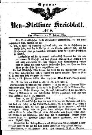 Neustettiner Kreisblatt vom 25.02.1865