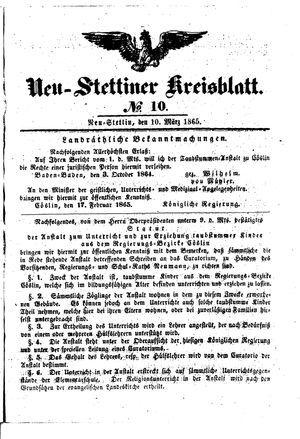Neustettiner Kreisblatt on Mar 10, 1865