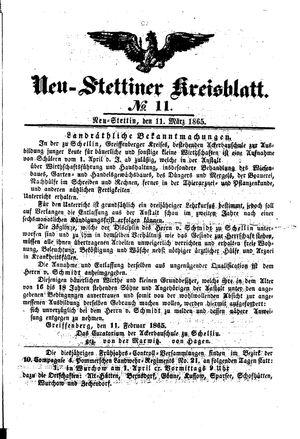 Neustettiner Kreisblatt on Mar 11, 1865