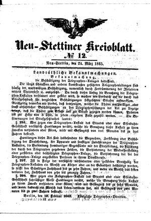 Neustettiner Kreisblatt vom 24.03.1865