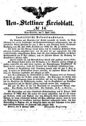Neustettiner Kreisblatt vom 07.04.1865