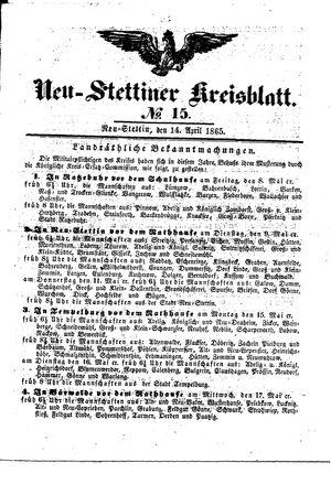 Neustettiner Kreisblatt vom 14.04.1865