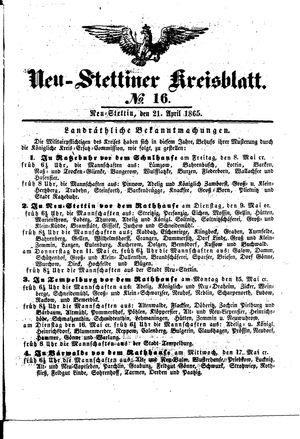 Neustettiner Kreisblatt vom 21.04.1865
