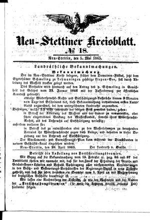 Neustettiner Kreisblatt vom 05.05.1865