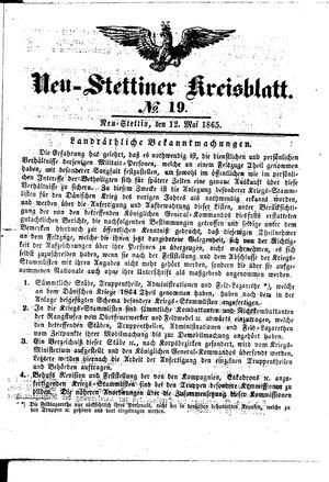 Neustettiner Kreisblatt vom 12.05.1865