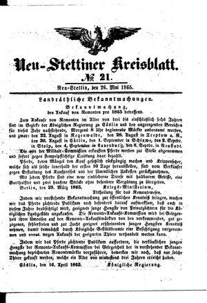 Neustettiner Kreisblatt vom 26.05.1865