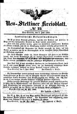 Neustettiner Kreisblatt vom 02.06.1865