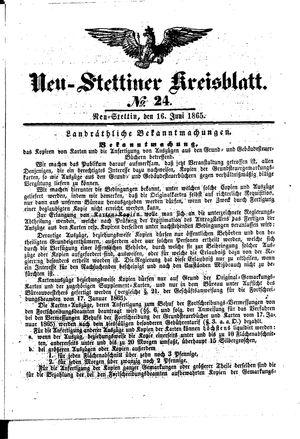 Neustettiner Kreisblatt vom 16.06.1865