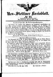 Neustettiner Kreisblatt (23.06.1865)