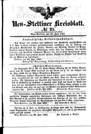 Neustettiner Kreisblatt vom 23.06.1865