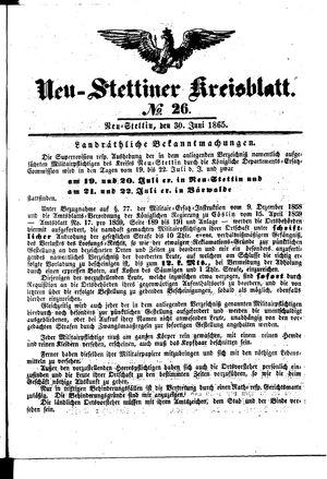 Neustettiner Kreisblatt vom 30.06.1865