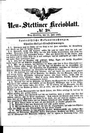 Neustettiner Kreisblatt on Jul 14, 1865