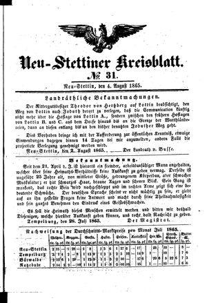 Neustettiner Kreisblatt vom 04.08.1865
