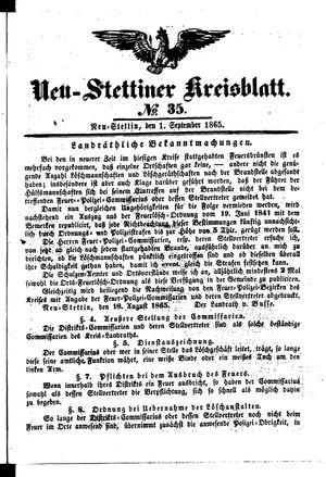 Neustettiner Kreisblatt vom 01.09.1865
