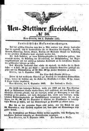 Neustettiner Kreisblatt vom 08.09.1865