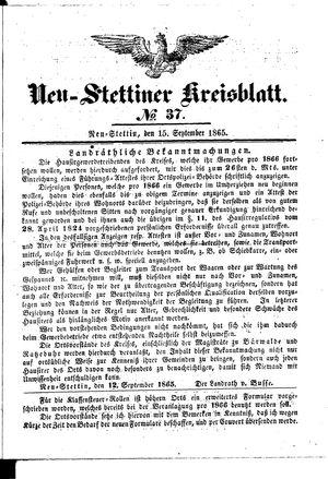 Neustettiner Kreisblatt vom 15.09.1865