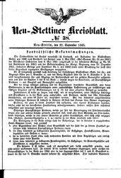 Neustettiner Kreisblatt (22.09.1865)