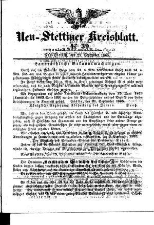Neustettiner Kreisblatt on Sep 29, 1865