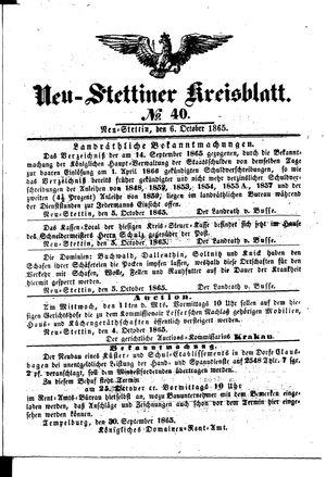 Neustettiner Kreisblatt vom 06.10.1865
