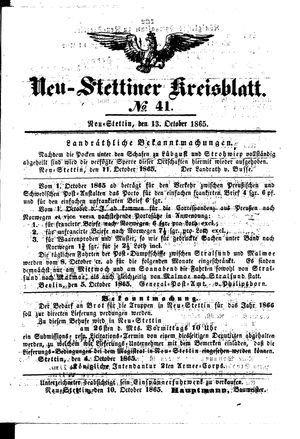 Neustettiner Kreisblatt vom 13.10.1865