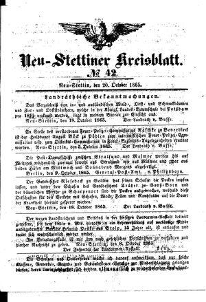 Neustettiner Kreisblatt vom 20.10.1865
