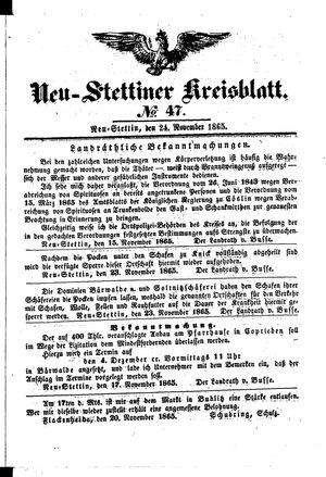 Neustettiner Kreisblatt vom 24.11.1865