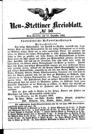 Neustettiner Kreisblatt vom 15.12.1865