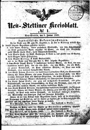 Neustettiner Kreisblatt vom 05.01.1866