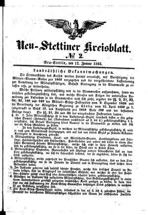Neustettiner Kreisblatt vom 12.01.1866